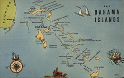 Map of Bahama Islands