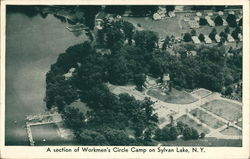A Section of Workmen's Circle Camp on Sylvan Lake, N.Y.