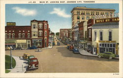 Main St. Looking East Postcard