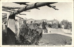 Partial View of Main Building Overlooking Gardens, Arizona Inn