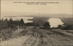 Lake Fannie Hooe and Copper Harbor from the Mountain Drive