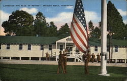 Lowering the Flag at Retreat, Kessler Field