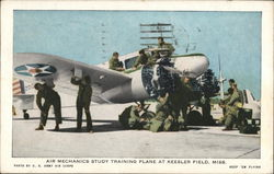 "Air Mechanics Study Training Plane at Keesler Field, Miss.'""Keep 'em Flying"""