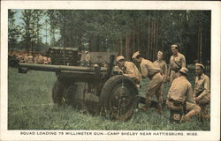 Squad Loading 75 Millimeter Gun...Camp Selby