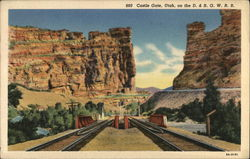 Castle Gate, Utah, on the D. & R. G.W.R.R.