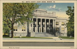 Smyth County Court House Postcard