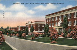Dormitory Row, Texas State College for Women Postcard