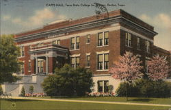 Texas State College for Women - Capps Hall Postcard