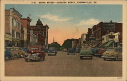 Broad Street Looking North Postcard