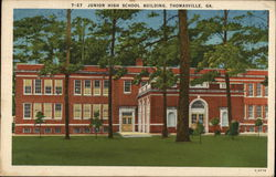 Junior High School Building Postcard
