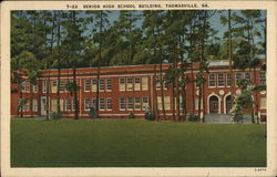 Senior High School Building Postcard