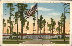 Headquarters Building, Finney Veterans Administration Hospital Postcard