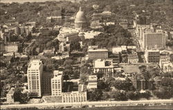 Aerial View showing Center of City and State Capitol