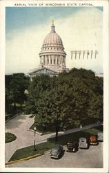 Aerial View of Wisconsin State Capitol
