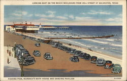 Looking East on the Beach Boulevard from 25th Street Postcard