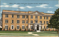 Texas State Teachers College - Terrill Hall Postcard