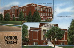 Senior and Junior High Schools Postcard