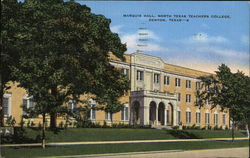 Marquis Hall, North Texas Teachers College