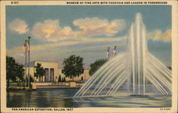 Museum of Fine Arts With Fountain and Lagoon in Foreground