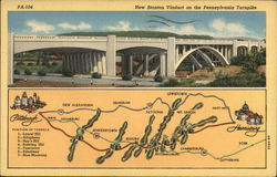 New Stanton Viaduct on the Pennsylvania Turpike, with Map