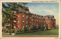 Hulings Hall, Allegheny College Postcard