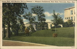 Lowry Hall, With Moulton Hall in Distance Postcard