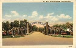 Castalia Blue Hole - Entrance Postcard