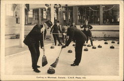 Curling - Two Men with Brooms