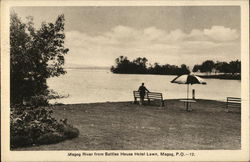 Magog River from Battles House Hotel Lawn Postcard