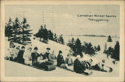 canadian Winter Sports - Tobogganing