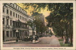 Wellington Street, showing Rideau Club and American Legion