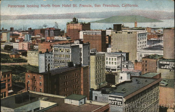 Panorama looking North from Hotel St. Francis San Francisco California