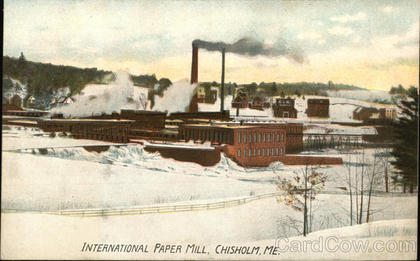 International Paper Mill Chisholm Maine