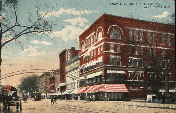 Masonic Building and Elm Street Manchester New Hampshire