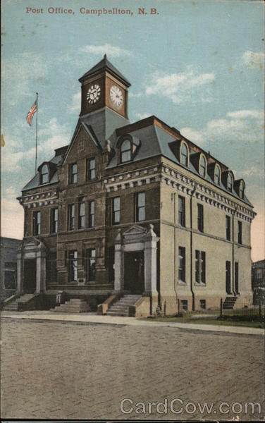 Campbellton (NB) Canada  city photos gallery : Post Office Campbellton, NB Canada Postcard