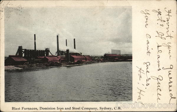Dominion Iron and Steel Company - Blast Furnaces Sydney Canada
