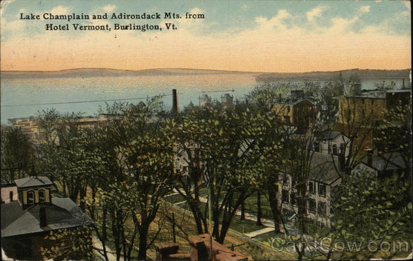 Lake Champlain and Adirondack Mountains, from Hotel Vermont Burlington