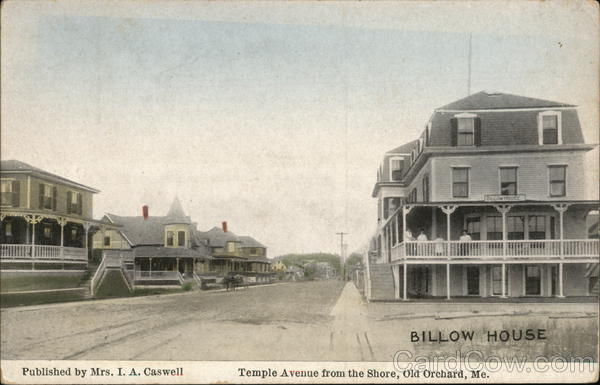 Temple Avenue from the Shore Old Orchard Beach Maine