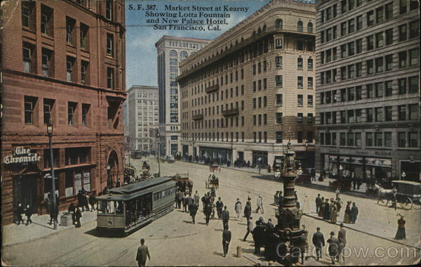 Market Street at Kearny San Francisco California