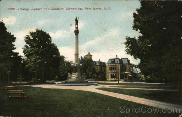 Orange Square and Soldiers' Monument Port Jervis New York