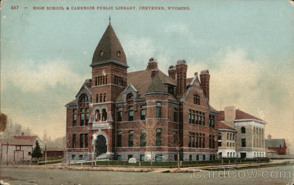 High School and Carnegie Public Library Cheyenne Wyoming