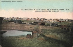 Lake and C. R. I. & P. Depot Postcard