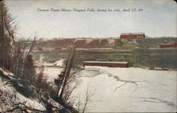 Ontario Power House, Niagara Falls, During Ice Jam, April 17, 09