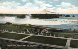 Niagara Falls, Bird's-Eye View of Falls, Power House, etc. from Falls View Station
