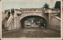 The Arch Over Shore Road at Fort William Henry Hotel on Lake George