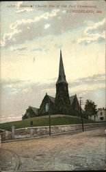 Emmanuel Church Site of Old Fort Cumberland Postcard