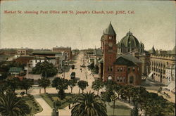 Market Street Showing Post Office and St. Joseph's Church