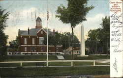 Court House and Soldier's Monument Postcard