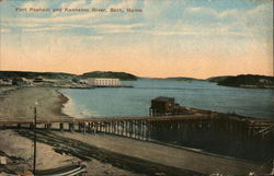 Fort Popham and Kennebec River