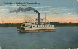 "Peoples Ferry, ""Hockomock,"" Kennebec River"